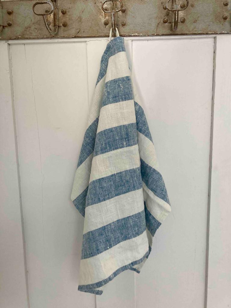 Hand Towel -  Indigo Wide Stripe