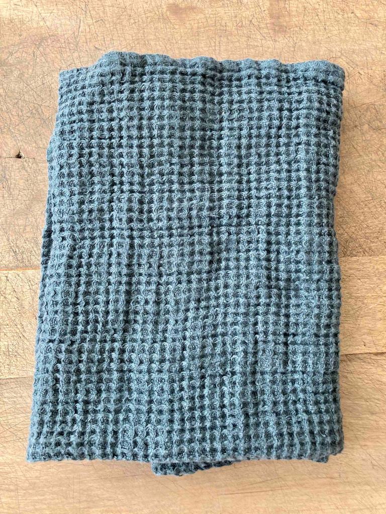 Hand Towel - Waffle Stone Blue