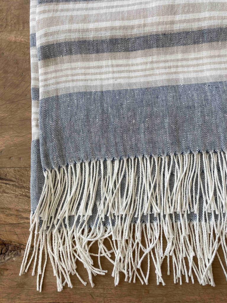 Throw - Striped Linen