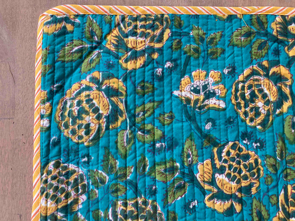Placemats - Blue and Yellow Floral