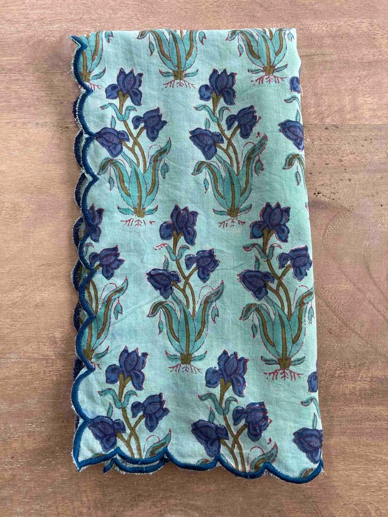 Napkins - Blue Iris Large