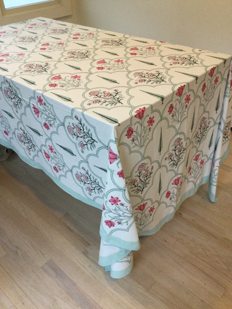 Tablecloth - Pink and Mint Jengere