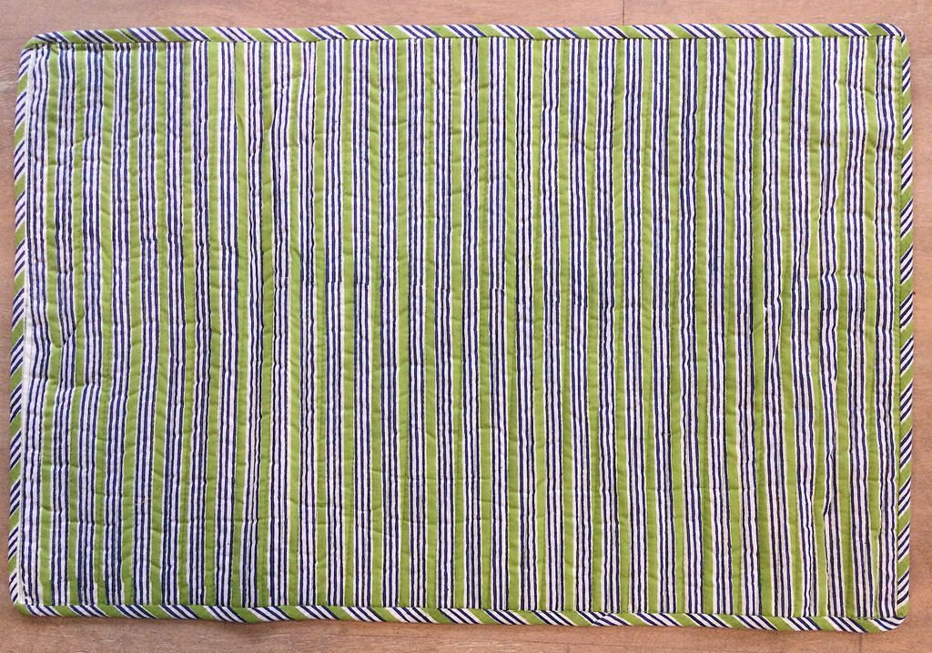 Placemats - Green and Blue Palm