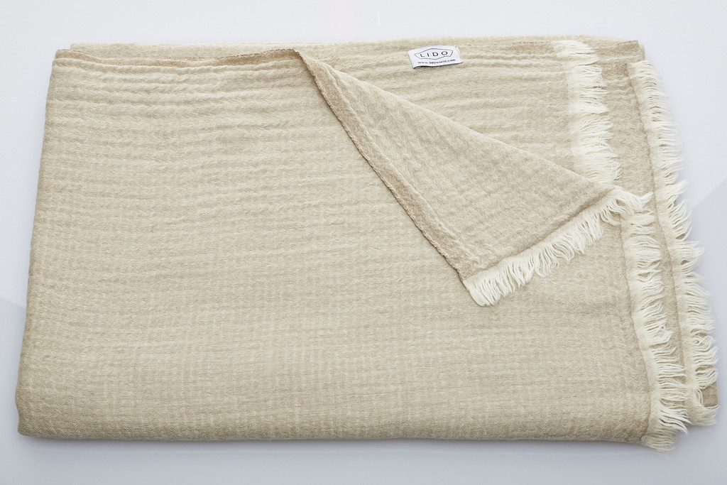 Soft Wool Blankets - Natural