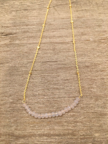 Necklace - Rose Quartz Beads