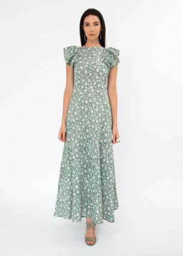 Deia Dress - Butterfly Green/Grey