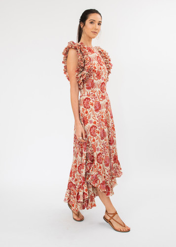 Cossette Dress - Red Floral