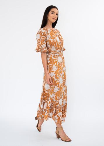 Flora Dress Long -  Squash