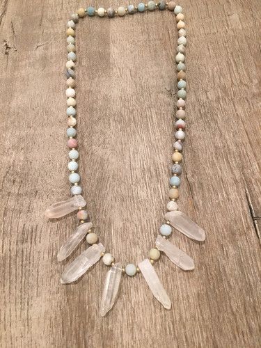 Necklace with Crystal Spears