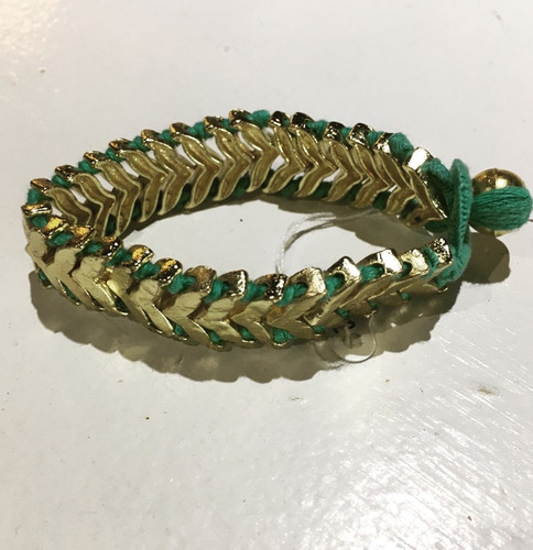 Bracelet - Brass and Thread