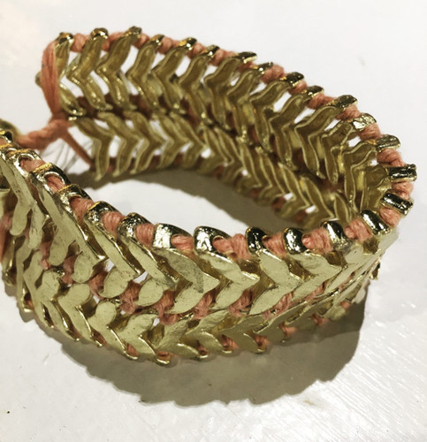 Bracelet - Brass and Thread Double