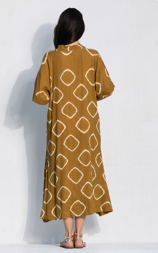 Kyoto Dress - Dijon Bandhani