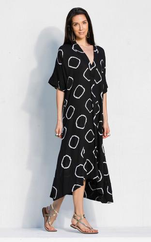 Kyoto Dress - Black Bandhani