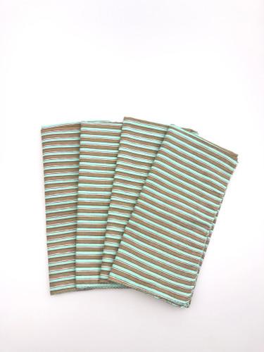 Napkins - Khaki and Teal Stripe