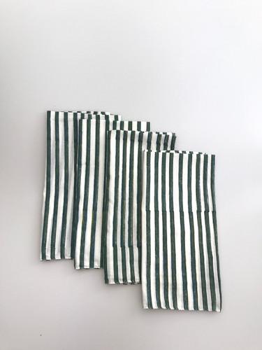 Napkins - Black and Teal Stripes