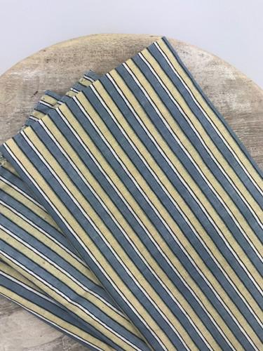 Napkins - Green, Blue and White Stripes