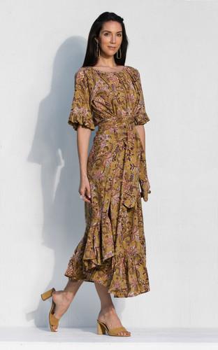 Flora Dress - Pear