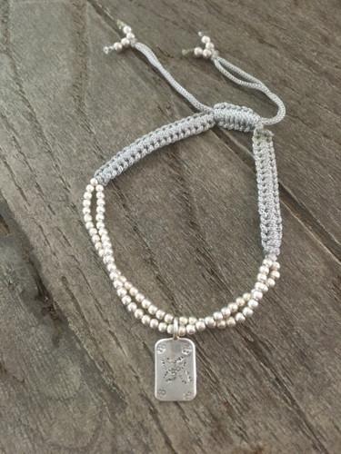 Thread Charm Bracelet - Grey