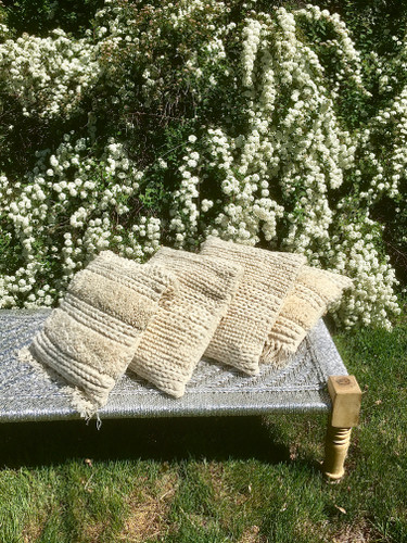 Pillows - Textured Cream, Without Fringe