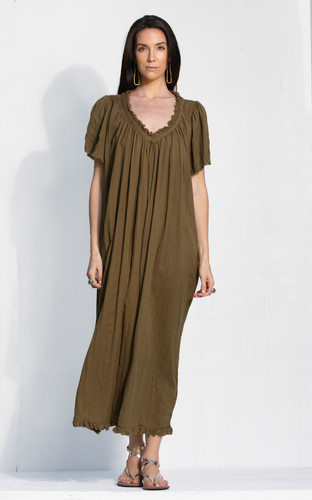 Messina Dress - Khaki