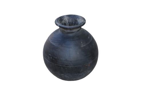 Black Wood Pots
