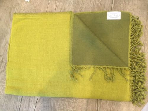 Wool Throw - Green