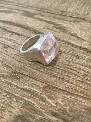 Cocktail Ring - Square Kunzite