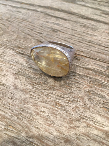 Cocktail Ring - Rutilated Quartz