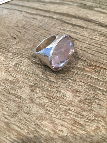 Cocktail Ring - Beveled Kunzite