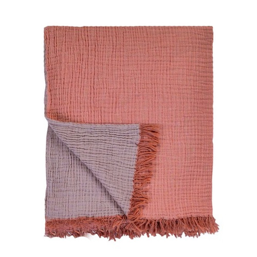 Waffle Bed Cover / Throw Apricot