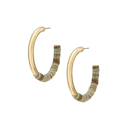 Karamu Horn Hoop Earrings