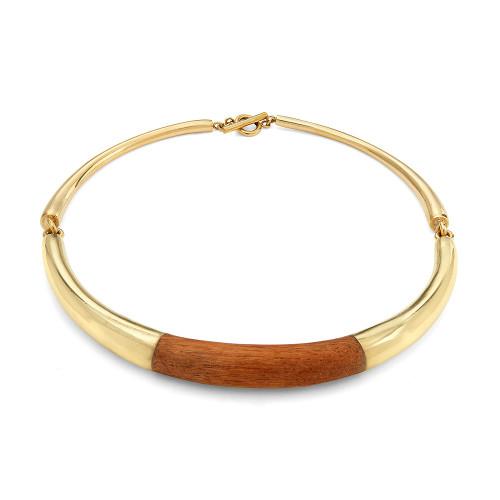Sana Wood Collar Necklace