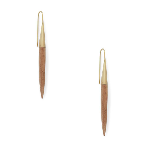 Teak Threader Earrings