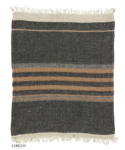 Belgian Towel - Black Stripes
