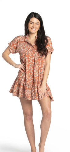 Beach Mini Dress - Pomegranate