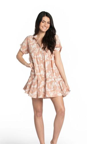 Beach Mini Dress - Otomi Dusty Pink