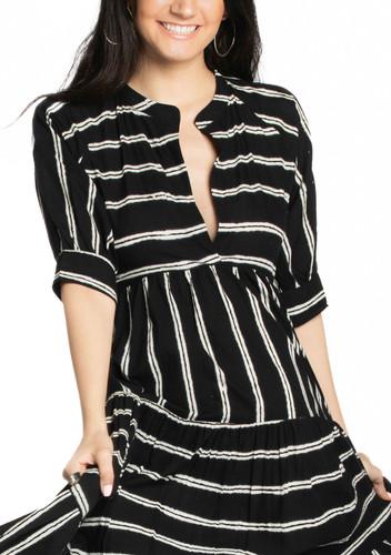 San Rafael Dress - Double Stripe