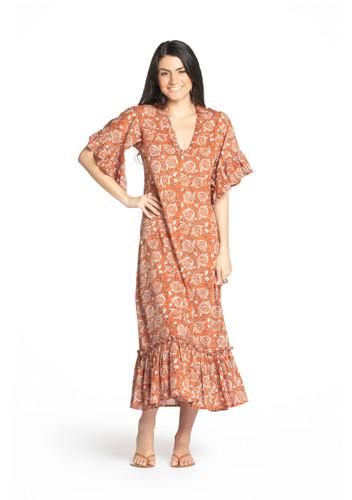 Aegina Dress - Pomegranate