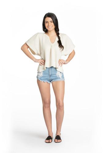 Thassos Top - Textured Cotton