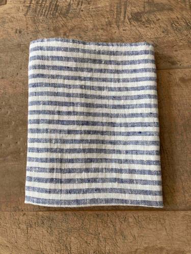 Hand Towel - Indigo Thin Stripe