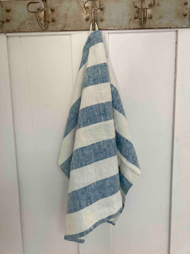 Hand Towel -  Indigo Wide Stripe