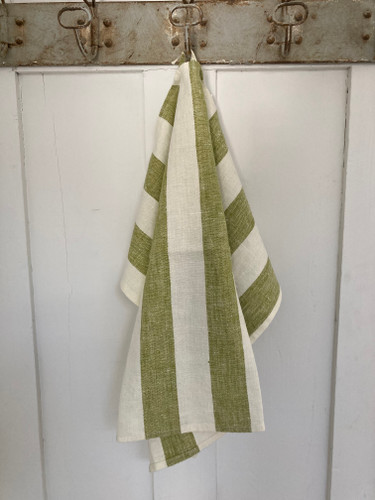 Hand Towel - Philippe Olive Green