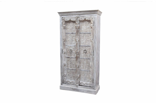 Armoire - Floral Hand Carving