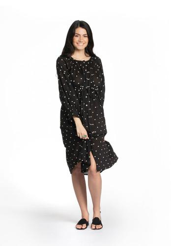 Barine Dress - Cream Embroidered Dots