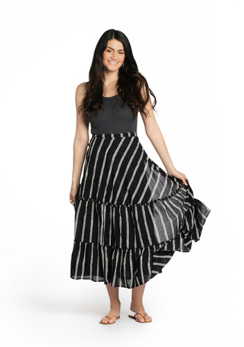 Wrap Skirt - Double Stripe