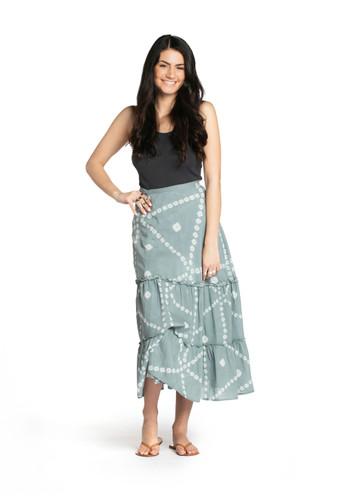 Wrap Skirt - Blue Stone Bandhani