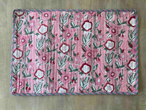 Placemats - Pink Hollyhock