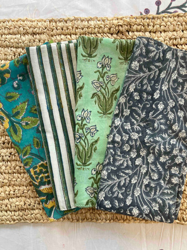Napkins - Blue and Yellow Floral