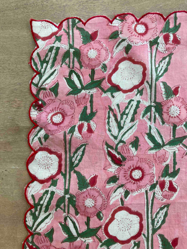 Napkins - Pink Hollyhock