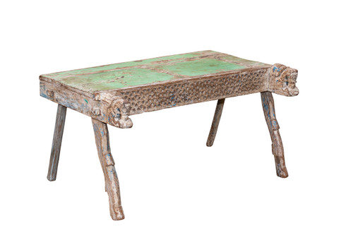 Bench - Small Green Top